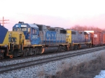 CSX 2672 & 2520 riding along in Q327 returning to GR after a week in Lansing