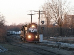 Z739/B49 heading to make its pickup after dropping the cars for GRE north of the diamond on whats left of the old GR&I
