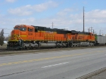 BNSF 8238 & 6079 along for the ride at the rear