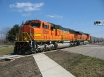 BNSF 8238 & 6079 helping out N956 as they cross 36th Street