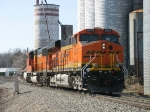 BNSF 6079 & 8238 heading back into town after pushing N956