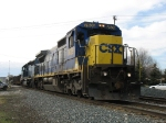 CSX 7639 & HLCX 8176 slowly leading Q326