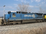 Maybe the conductor is a Conrail fan. Or he's just happy to be almost home with Q335