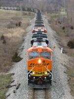 BNSF 6203 leading N956 eastward