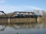 Crossing over the Grand River with the empties from King Milling