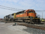 HLCX 8145 & CSX 8504 leading Q326-31 out of the yard with two units for Lansing