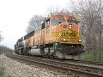 BNSF 9978 leading D801-31 around the curve