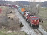 X500-30 rolling east behind CP 9564