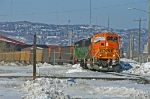 BNSF 8936 with coal empties leaving Midwest Energy
