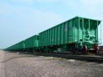1/4 Mi. of new ballast cars in UP yard