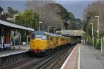 Network Rail Test train (1Q14 ) at Parkstone with 31 465 pushing