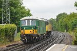 73 133 enroute to Bournemouth Carriage sidings