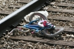 Tracks are littered with junk