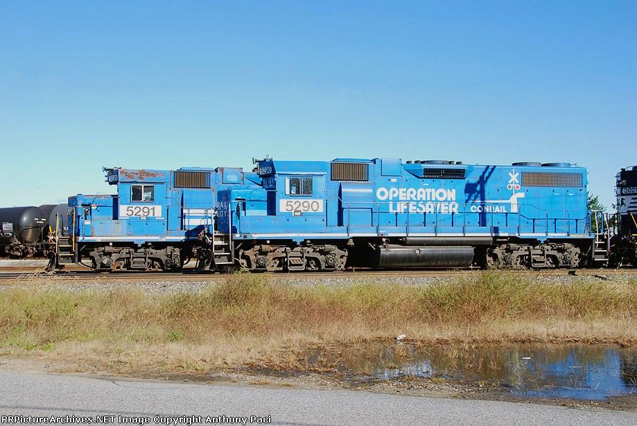 Conrail blue GP38-2's