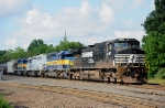 NS 9467 and three SD40-2s