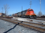 Colorful CN lashup w/ex IC, GT & WC units