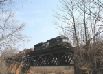 NS 2710 crosses over Naked Creek