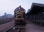 "NKP 875 with Tr. 5, ""The City of Chicago"" at Englewood Union Station"