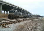 NS 2723 and 9539 Switching South End of Yard