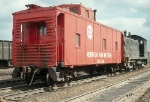 Three Guesses What This Caboose Was Made From, Shot at Pullman Jct.