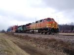 BNSF 5328 Leads an Intermodal Train East to Chicago
