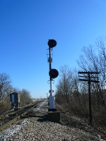 South End Of Latonia Signal For Northbound Trains