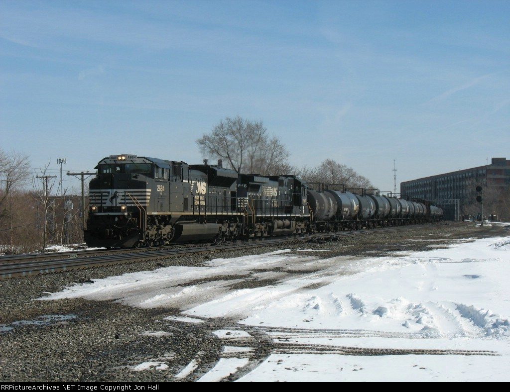 19A rolling west behind NS 2684 & 8846