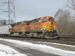M394 heading east behind BNSF 4319 & 4021