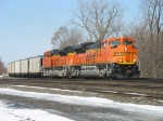 416 rolling in behind a pair of BNSF ACe's
