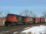 CN 2660 & BNSF 715 head west with M395