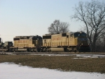 UP 4337 & 3620 leading an eastbound Canadian military train