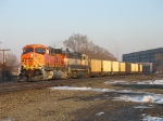 BNSF 5844 & 9800 leading C767 coal empties west on the GTW