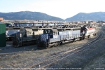 MRL 356 (SD45-2XR) and MRL 342 (SD45) sit
