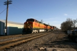 BNSF 5398 approaches the Wabash crossing