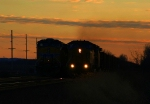 Two coal trains