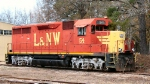 LNW 54 parked behind the Louisiana and North West engine house