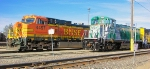 BNSF 4497 and RPRX 5404