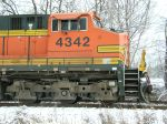 BNSF 4342 power for NS 821 hopper train
