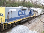 CSX 2304 with Life logo on long hood