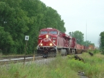 Two ES44ACs on EB intermodal train 198