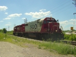 SOO 4424 leads a light-engine G67 west into town