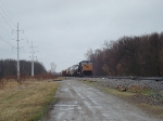 CSX 4712 is the sole power on a parked westbound