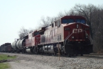 CP 9777 and SOO 6062 parked