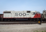 SOO 4427 4th unit on a manifest stopped in the Portage Yard