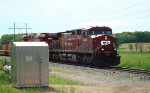 CP 8639 leads a westbound intermodal/autorack train
