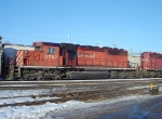 CP 5727 trails a lashup of four SD40-2s