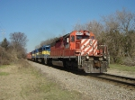 DME 6093 nearing Humboldt St. with 486 east