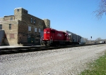CP 4407 heads east with its one-car pickup from Specialty Ingredients