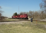 Waving to CP 8822 east