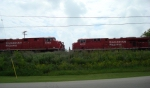 CP 8852 west meets CP 8810 east